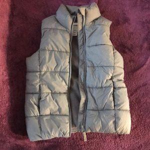 Kids Grey Puffer Vest